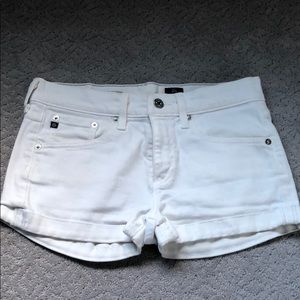 AG Adriano Goldschmied  White Jean Shorts